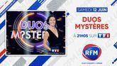Samedi 12 juin: RFM partenaire de l'émission «Duo Mystères» à 21h05 sur TF1