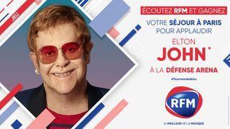 Ecoutez RFM et gagnez votre séjour à Paris pour applaudir Elton John à la Défense Arena !