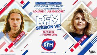 RFM Session VIP: Gagnez votre séjour et vos places pour le concert privé de Louane et Julien Doré