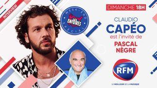 Dimanche 7 mars: Claudio Capéo est l'invité de Pascal Nègre