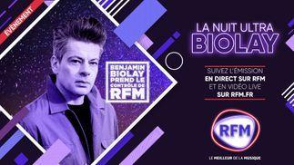 La Nuit Ultra Biolay: suivez l'émission en direct sur RFM et en vidéo live sur RFM.fr