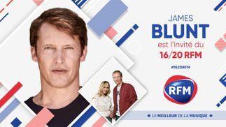 Mercredi 22 septembre : James Blunt est l'invité du 16/20 sur RFM !