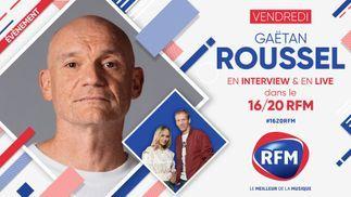 Vendredi 5 mars: Gaëtan Roussel est l'invité du 16/20 RFM !