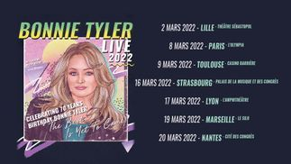 RFM partenaire de la tournée 2022 de Bonnie Tyler !